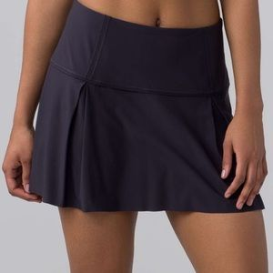 Lululemon Lost In Pace Navy Athletic Tennis Skirt